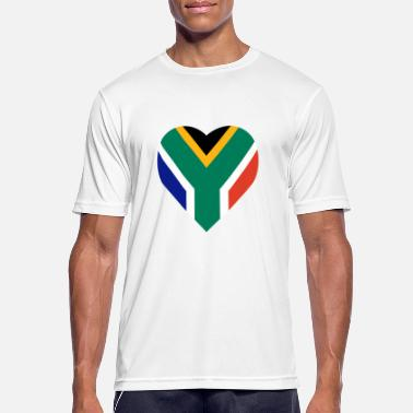 The Heart Of Africa South Africa love heart - Men's Breathable T-Shirt