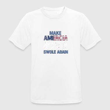 Amercia Swole Again Body Builder - Men's Breathable T-Shirt