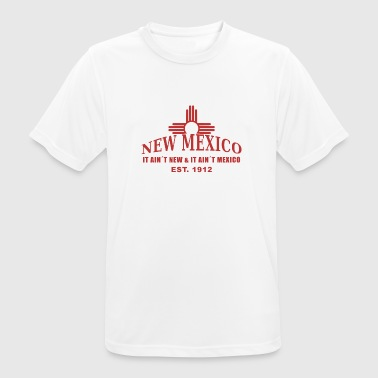 Rave Symbols New Mexico with the Zia symbol - Men's Breathable T-Shirt