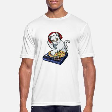 Headphones Cat Pizza DJ - Men's Sport T-Shirt
