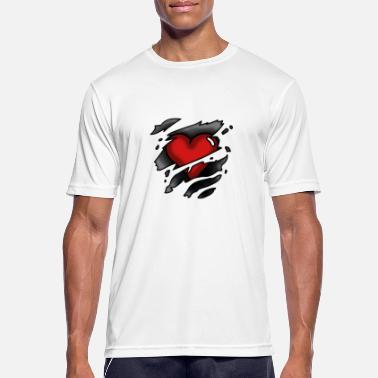 Ripped Ripped shirt with heart - Men's Sport T-Shirt