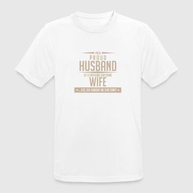 Husband Pride Wife Crazy - Men's Breathable T-Shirt
