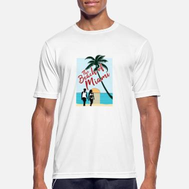 Miami The beach of Miami - Men's Breathable T-Shirt