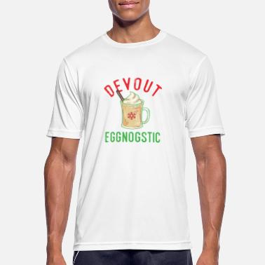 Devoto Devoto Eggnostic Funny Eggnog Design para Egg Nog - Camiseta hombre transpirable