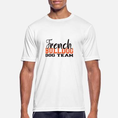 Fane French Bulldog, French Bulldog, Frenchy - Sport T-skjorte for menn