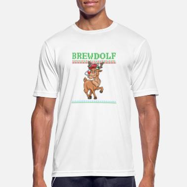 Alva Jul Brewdolf öl Xmas sprit - Sport T-shirt herr