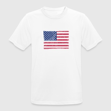 USA Flag / Made in USA - Men's Breathable T-Shirt