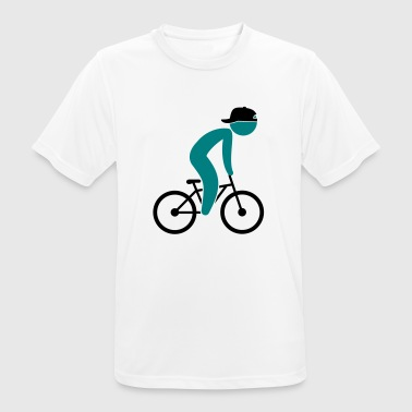 Lance Armstrong A cyclist doing tricks on his bike - Men's Breathable T-Shirt