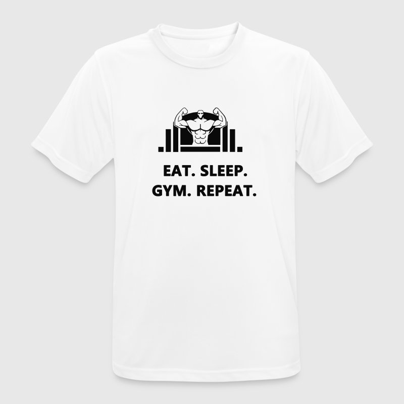 Eat Sleep Gym Repeat - Men's Breathable T-Shirt