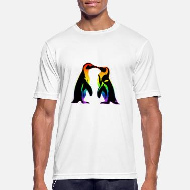 Pride Love Is Love Gay penguins in love, lgbtq pride - Men's Sport T-Shirt