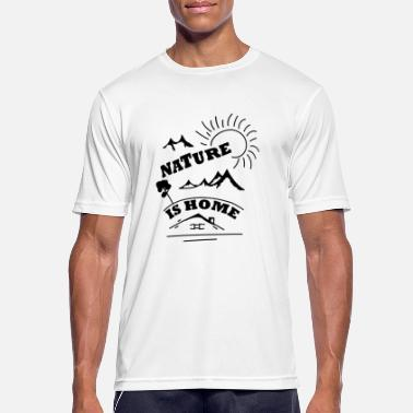 Nature is my home - Men's Sport T-Shirt