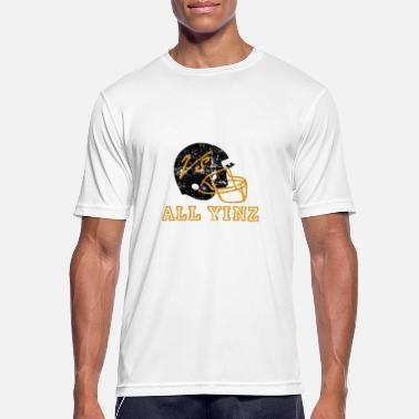 Pittsburgh Pittsburgh Vs All Yinz Distressed - Männer Sport T-Shirt