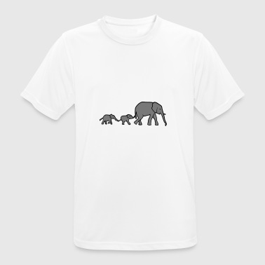 Elephant mother and baby elephants - T-shirt respirant Homme