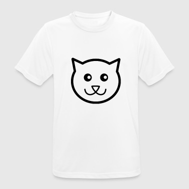 Cartoon kat - mannen T-shirt ademend