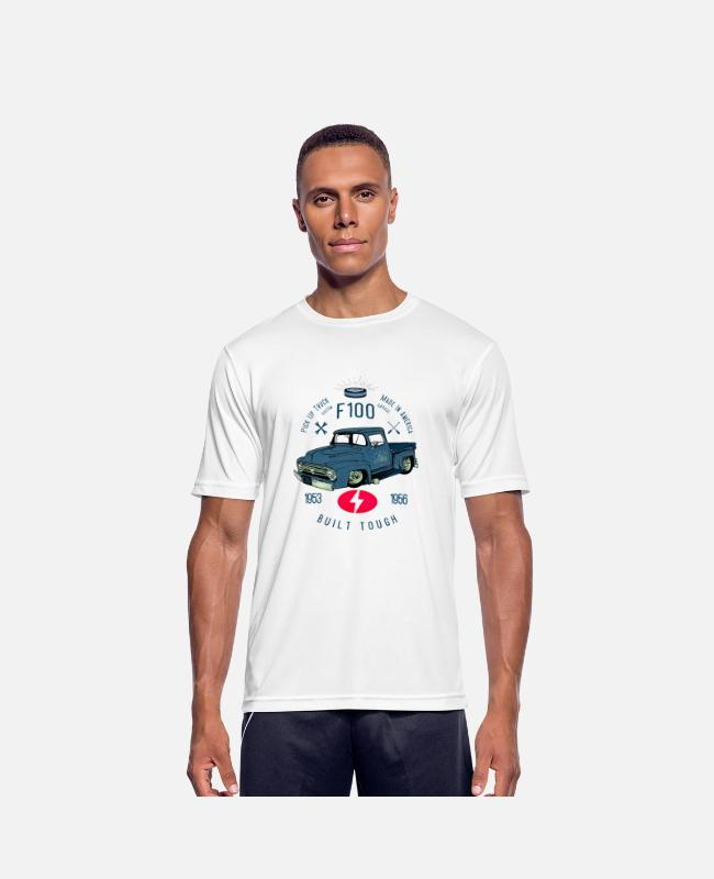 Cars T-shirts - F100 Built Tough - Sports T-shirt mænd hvid