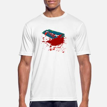 Razor Blade Razor Blade - razor blade with blood - Men's Sport T-Shirt