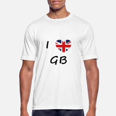 Gb Souvenir I love GB / I love / Souvenir / Great Britann - Men's Sport T-Shirt