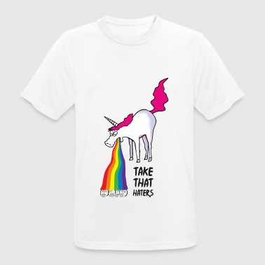 Unicorn vomiting rainbow - take that haters - Men's Breathable T-Shirt