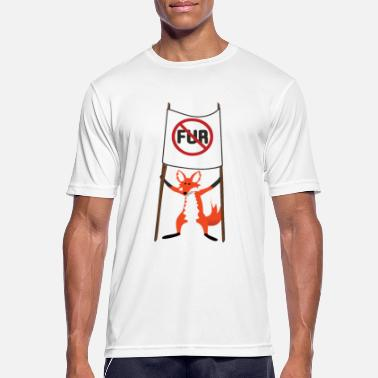 Fur No fur. Say no to fur - Men's Sport T-Shirt