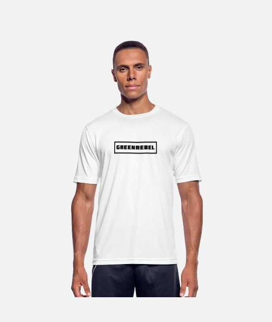 Vegetarian T-Shirts - Sober Vegan black - Men's Sport T-Shirt white