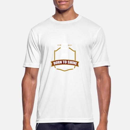 Fyr født for å skinne Sport T skjorte for menn | Spreadshirt