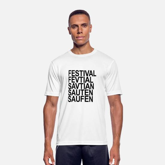 Camping T-Shirts - Festival ... drinking - Men's Sport T-Shirt white