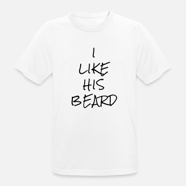 Like Ehefrau I LIKE HIS BEARD - Männer T-Shirt atmungsaktiv