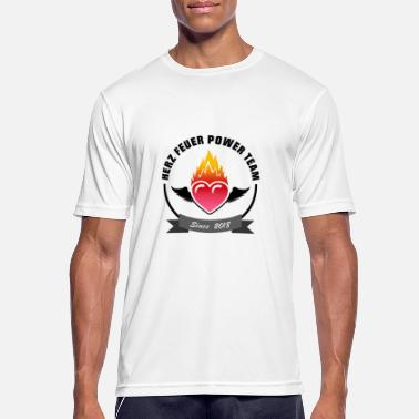 Heart fire power team - Men's Sport T-Shirt