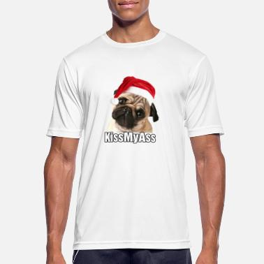 Ass Christmas kiss my ass - Men's Breathable T-Shirt