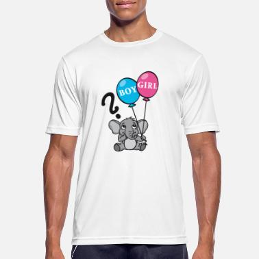 Gender Boy or girl elephant with balloons - Men's Sport T-Shirt