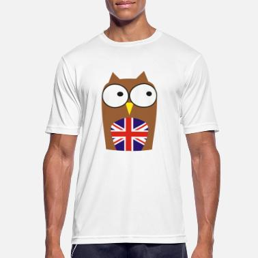 Madchester whoo ben je - nieuw! Owl & Union Jack - Mannen sport T-shirt