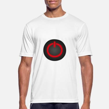 Motivation Buttons POWER BUTTON ON OFF - Men's Sport T-Shirt