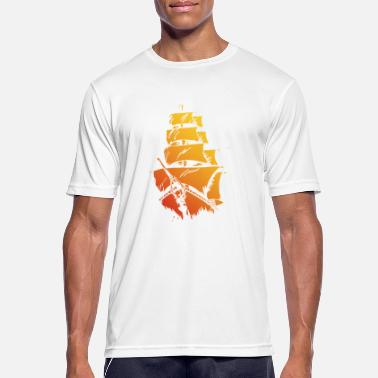 Pirate ship red yellow - Men's Sport T-Shirt