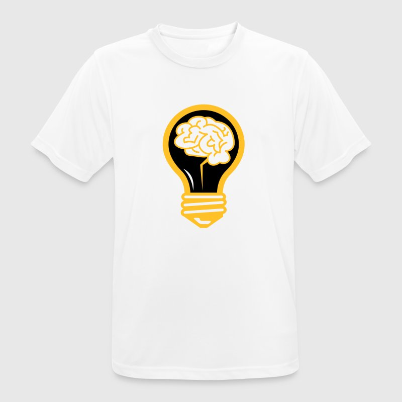 Light bulb with a brain - Men's Breathable T-Shirt