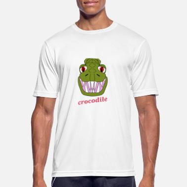Crocodile crocodile cartoon face monster monstre - T-shirt sport Homme