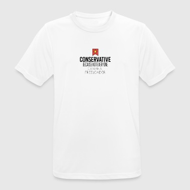 Conservative because not everyone is freeloader - Men's Breathable T-Shirt