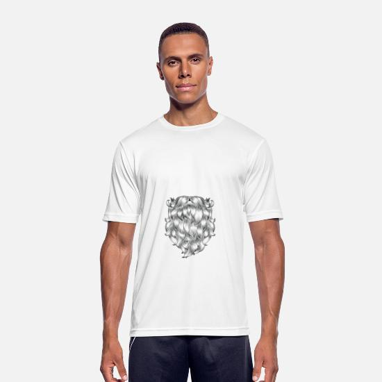 Overskæg T-shirts - Touch My Beard And Tell Me I'm Pretty - Sports T-shirt mænd hvid