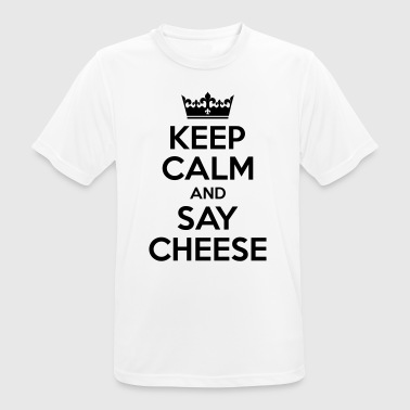 Keep Calm and say cheese - photographer - Men's Breathable T-Shirt