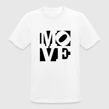 move Homage to Robert Indiana move schwarz aussen - Männer T-Shirt atmungsaktiv