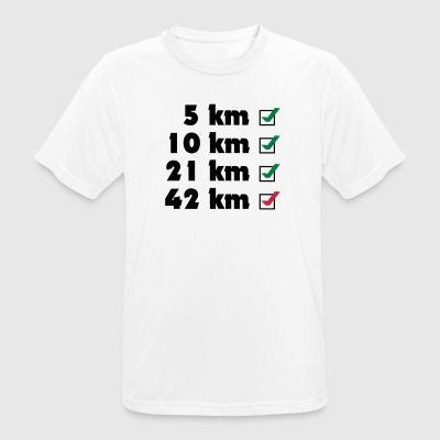 Marathon Checklist - Men's Breathable T-Shirt