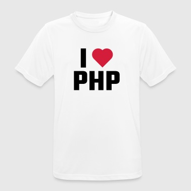 I Love PHP - Men's Breathable T-Shirt