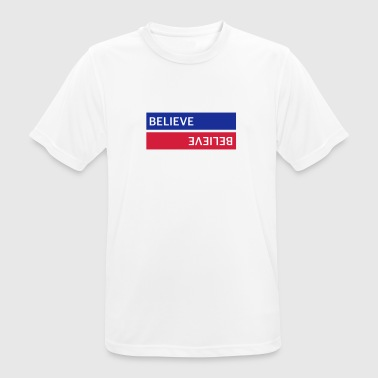 BELIEVE BLUE / RED - Men's Breathable T-Shirt