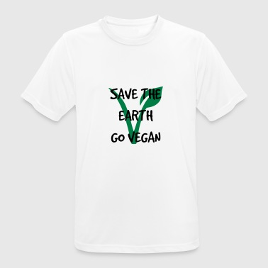 Save the earth go vegan - Men's Breathable T-Shirt