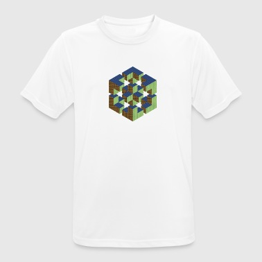 Figure impossible imagination géométrie cube Escher - T-shirt respirant Homme