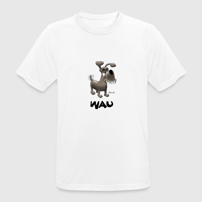 Enillo Cartoon Hund Wau - Männer T-Shirt atmungsaktiv