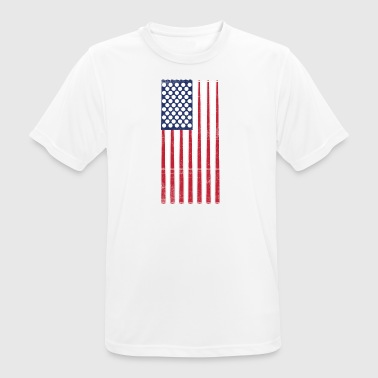 Vintage Flag > US Flag Made of Billard Balls + Cue - Männer T-Shirt atmungsaktiv