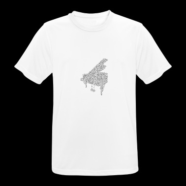 piano notes - Men's Breathable T-Shirt