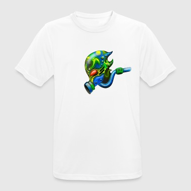 Alien with gas mask - Men's Breathable T-Shirt