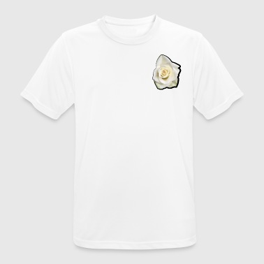 white rose - mannen T-shirt ademend