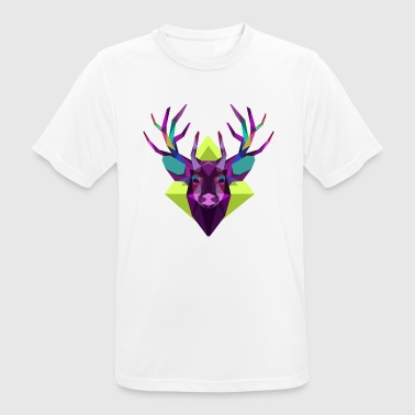 Colorful deer head - Men's Breathable T-Shirt